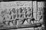 Sculptures of ayudhas (weapons) in the fifth floor interior of Kumbha's Kirttistambhin,...