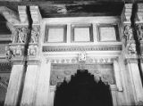 Brackets and lintel on the entrance of Jagat Siromani Temple, Amber, Rajasthan, India, 1965-2000