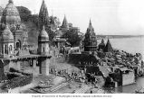 Ghats and temples, Benares, ca. 1903