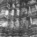 Devangana sculptures on the exterior of the Chaturbhuj Temple in Khajuraho, Madhya Pradesh, India,...