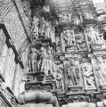Bands of devangana mithuna sculptures on the exterior of the Devi Jagdamba Temple, Khajuraho,...