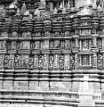 Bands of sculptures on the side facade of the Parshvanath Temple, in Khajuraho, Madhya Pradesh,...