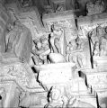 Devangana mithuna sculptures in the pradakshin path of the Parshvanath Temple, Khajuraho, Madhya...