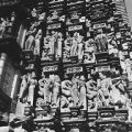 Devangana sculptures on the exterior of the Vamana Temple in Khajuraho, Madhya Pradesh, India,...