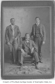 Enos Hazelwood and two other men, Seattle, ca. 1905