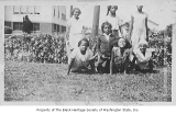 Girls at start of wheelbarrow race at Garfield Playfield, Seattle, ca. 1932