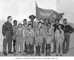 Boy Scout Troop 14 with scoutmaster James Washington, Jr., Seattle, ca. 1946