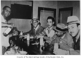 Al Hilbert with patrons at Royal Esquire Club, Seattle, ca. 1950