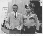 Sidney Poitier and Walter Lawson, Seattle, ca. 1964