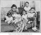 Mother with six children, Seattle, ca. 1945