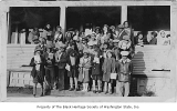 Children outside Phyllis Wheatley YWCA, Seattle, ca. 1932