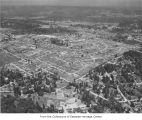Aerial of Vuecrest neighborhood, Bellevue, ca. 1952
