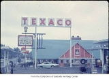 IHOP and Texaco station, Bellevue, ca. 1969