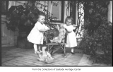 Phyllis and Gretchen Hill with toys, Bellevue, 1914