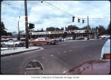 NE 8th Street and 108th Avenue NE looking north, Bellevue, ca. 1975