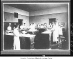 Home economics class at Central School, Kirkland, ca. 1916
