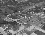 Aerial of Bellevue Square from the southeast, Bellevue, ca. 1948