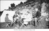 Hill family and friends camping, 1921