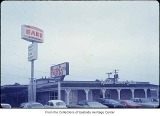 The Barb Restaurant and Russell Stover Candies, Bellevue, ca. 1969