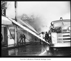 Fire at Roth's Bakery, Kirkland, June 30, 1955