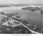 Aerial of Mercer Island from the south, ca. 1955