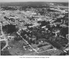 Aerial of Bellevue Way, Bellevue, ca. 1958