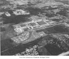 Aerial of Safeway Distribution Center, Bellevue, ca. 1960