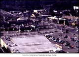Aerial of Safeway on NE 4th Street from the northeast, Bellevue, ca. 1969