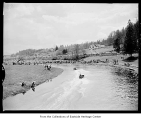 Boat races on Sammamish Slough, Redmond, April 19, 1956