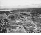 Aerial of Bellevue from the south, 1957