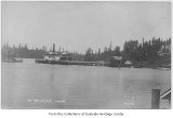 Ferry Leschi at Bellevue ferry dock with the Triton approaching, Bellevue, ca. 1917