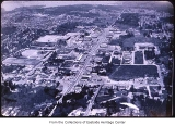 Aerial of Bellevue Way from southeast, Bellevue, ca. 1969