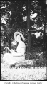 Phyllis Hill drawing outdoors, Bellevue, ca. 1932