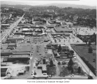 Aerial of Bellevue Square from the north, Bellevue, ca. 1960