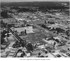 Aerial of downtown Bellevue, ca. 1958