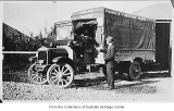 Gus and Al Tillman with Kirkland Transfer truck, Kirkland, 1918