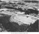 Aerial of Bellevue High School, ca. 1960