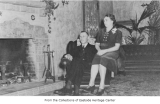 Frederick and Cecelia Winters in Winters House living room, Bellevue, ca. 1935