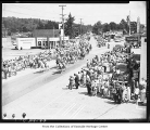 Horse parade during Redmond Bike Derby, Redmond, August 13, 1955