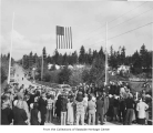 Meydenbauer Bay Bridge dedication ceremony, Bellevue, February 11, 1950