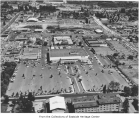 Aerial of Bellevue Square from the west, Bellevue, ca. 1960