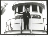 Captain  Otto Johnson on board the Reliance, n.d.