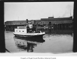 City of Clinton, a steam ferry, in a harbor, n.d.