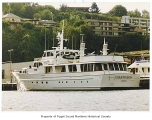 Daedalus, a diesel powered yacht owned by Boeing Airplane Company, moored in Seattle, 1966