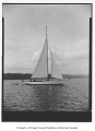 Circe, a sailing sloop, at sea, n.d.