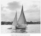 Alert, a sailing yawl from Tacoma at sea, n.d.