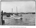 A.L. Lindsley, a gasoline powered yacht on Lake Union, Seattle, Washington, n.d.