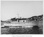 Chula Mia, a diesel powered yacht, at sea, n.d.