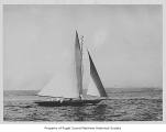 Alexandra, a sailing sloop, at sea, n.d.
