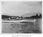 Fleetwood, a diesel powered yacht, at sea, n.d.